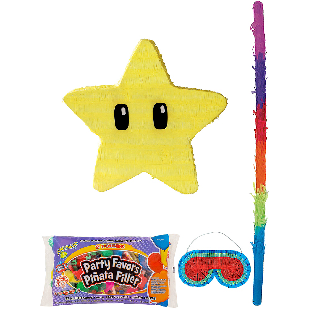 Star Pinata Kit with Candy & Favors - Super Mario Image #1
