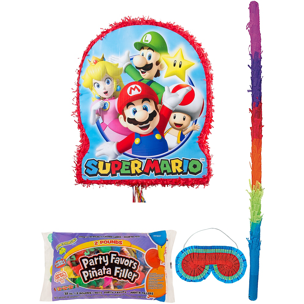 Super Mario Pinata Kit with Candy & Favors Image #1