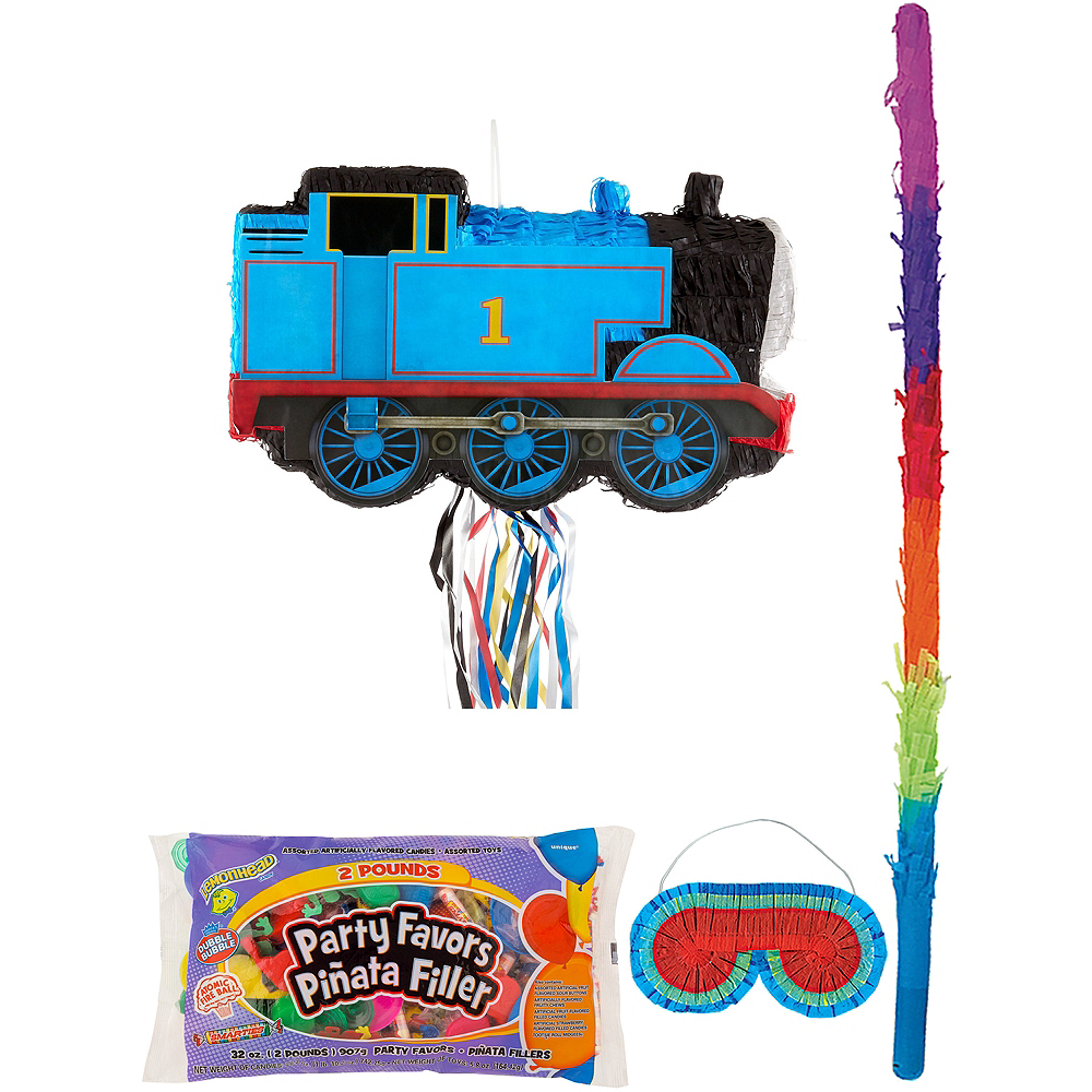 Thomas the Tank Engine Train Pinata Kit with Candy & Favors Image #1