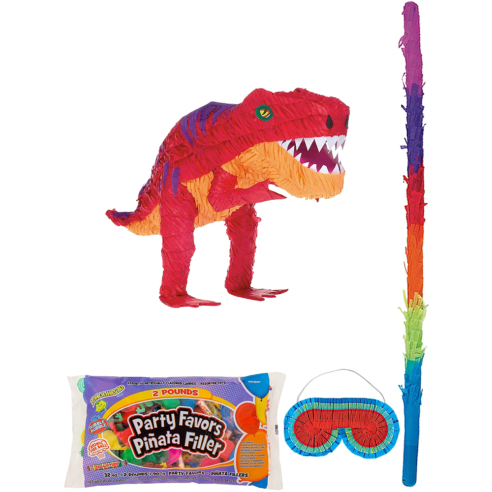 Nav Item For T Rex Dinosaur Pinata Kit With Candy Favors Image