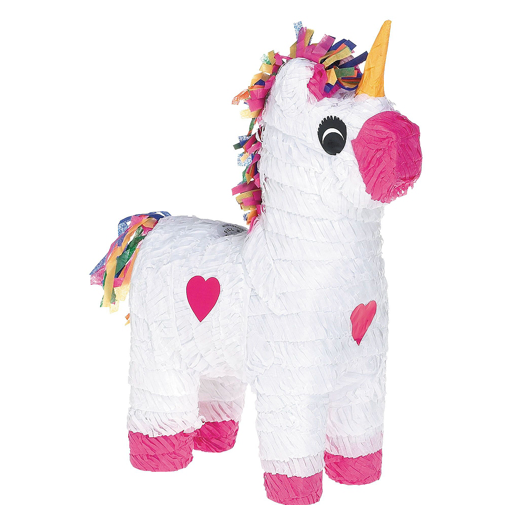 White Unicorn Pinata Kit with Candy & Favors Image #2