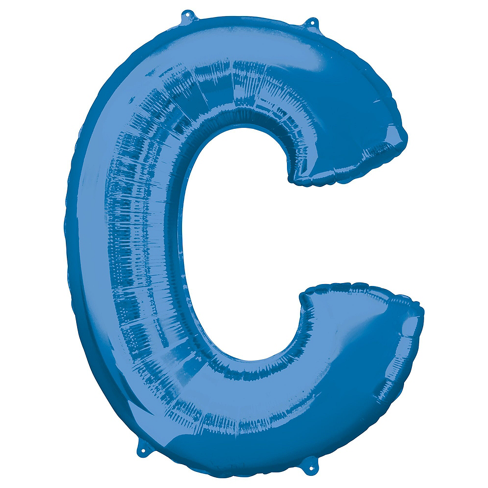 34in Blue Cheers Letter Balloon Kit 7pc Image #3