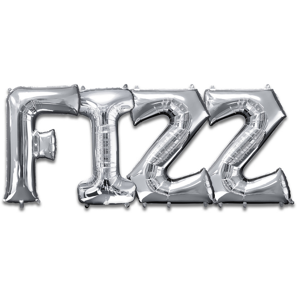 Giant Silver Fizz Letter Balloon Kit 5pc Image #1