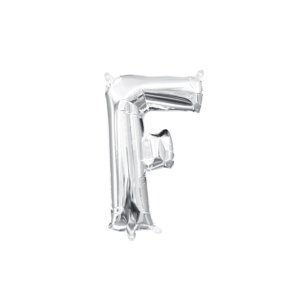 13in Air-Filled Silver Fizz Letter Balloon Kit Image #3