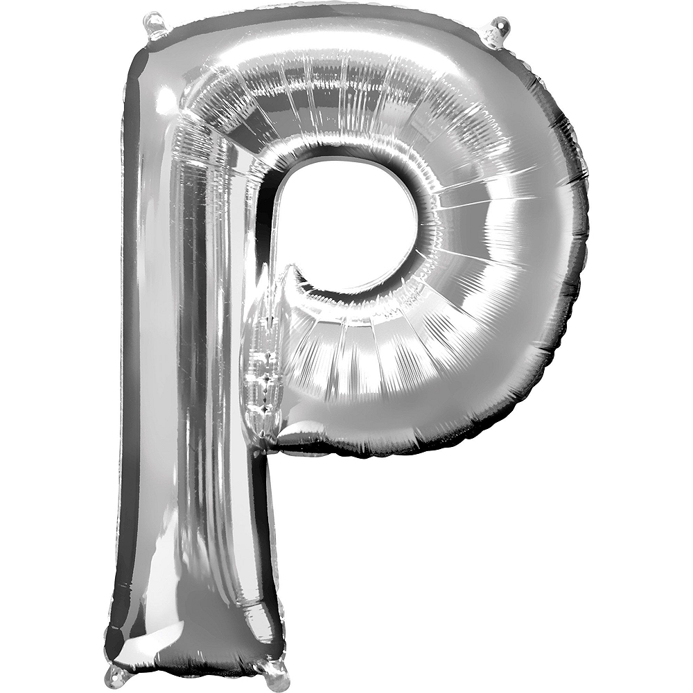 Giant Silver Party Letter Balloon Kit 6pc Image #4