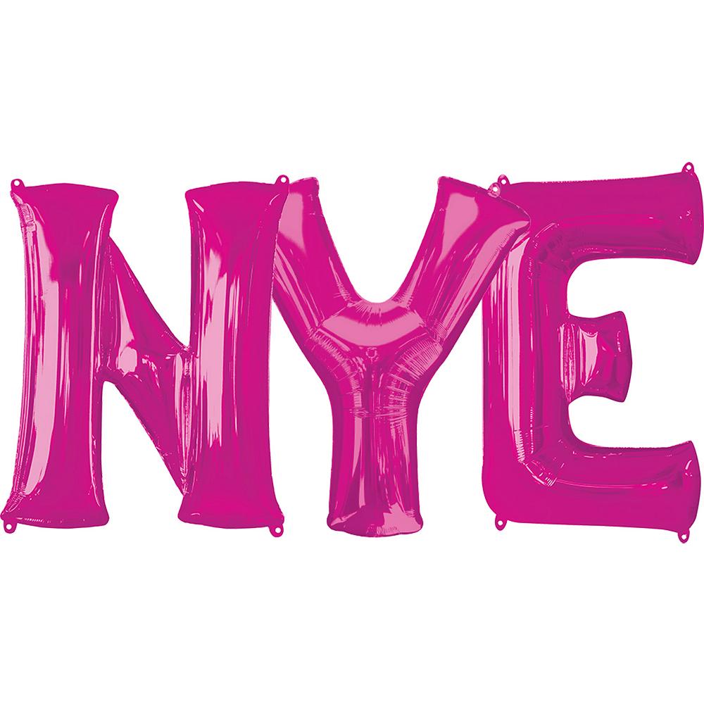 Giant Pink NYE Letter Balloon Kit 4pc Image #1