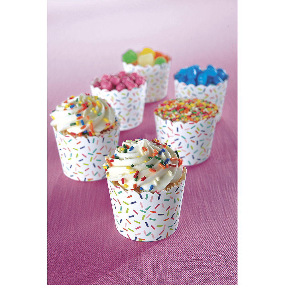 Mini Colorful Sprinkles Scalloped Bowls 36ct   Party City