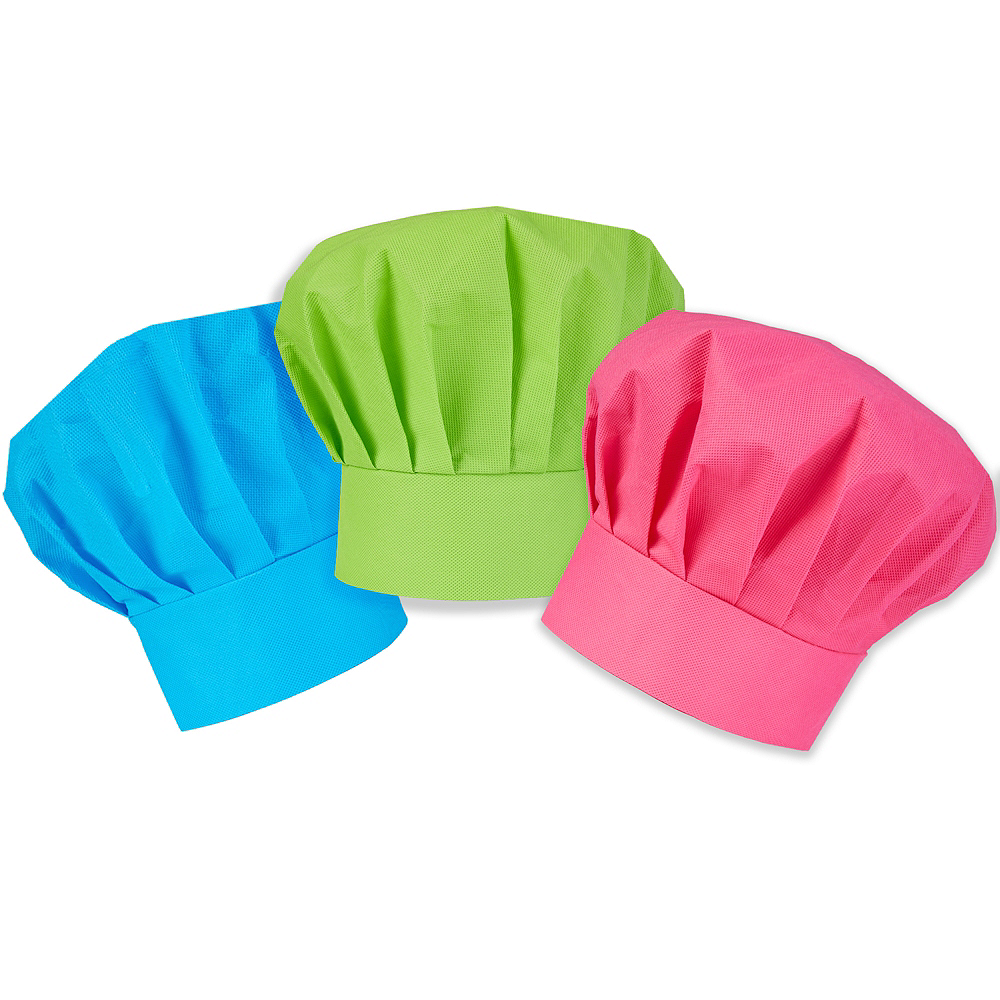 Colorful Kids Chef Hats 3ct