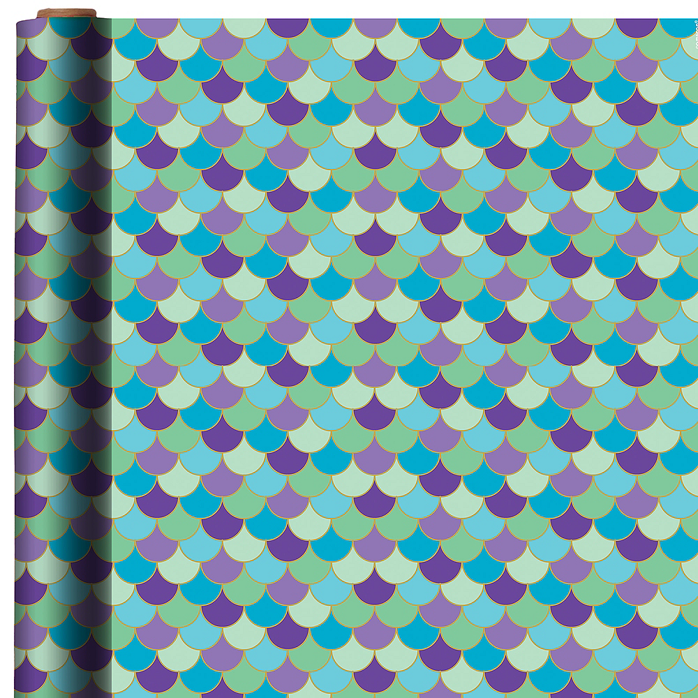Scalloped Mermaid Gift Wrap Image 1