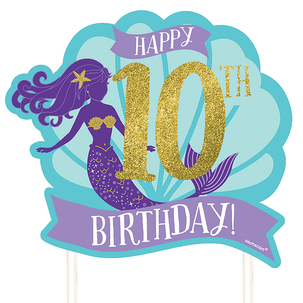 Customizable Wishful Mermaid Cake Topper Image 1