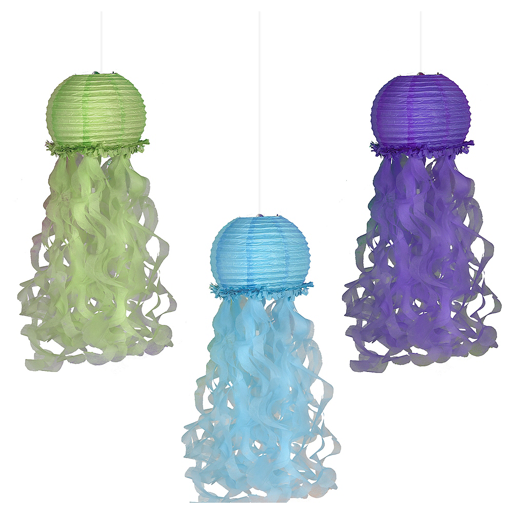 Jellyfish Paper Lanterns 3ct Image #1