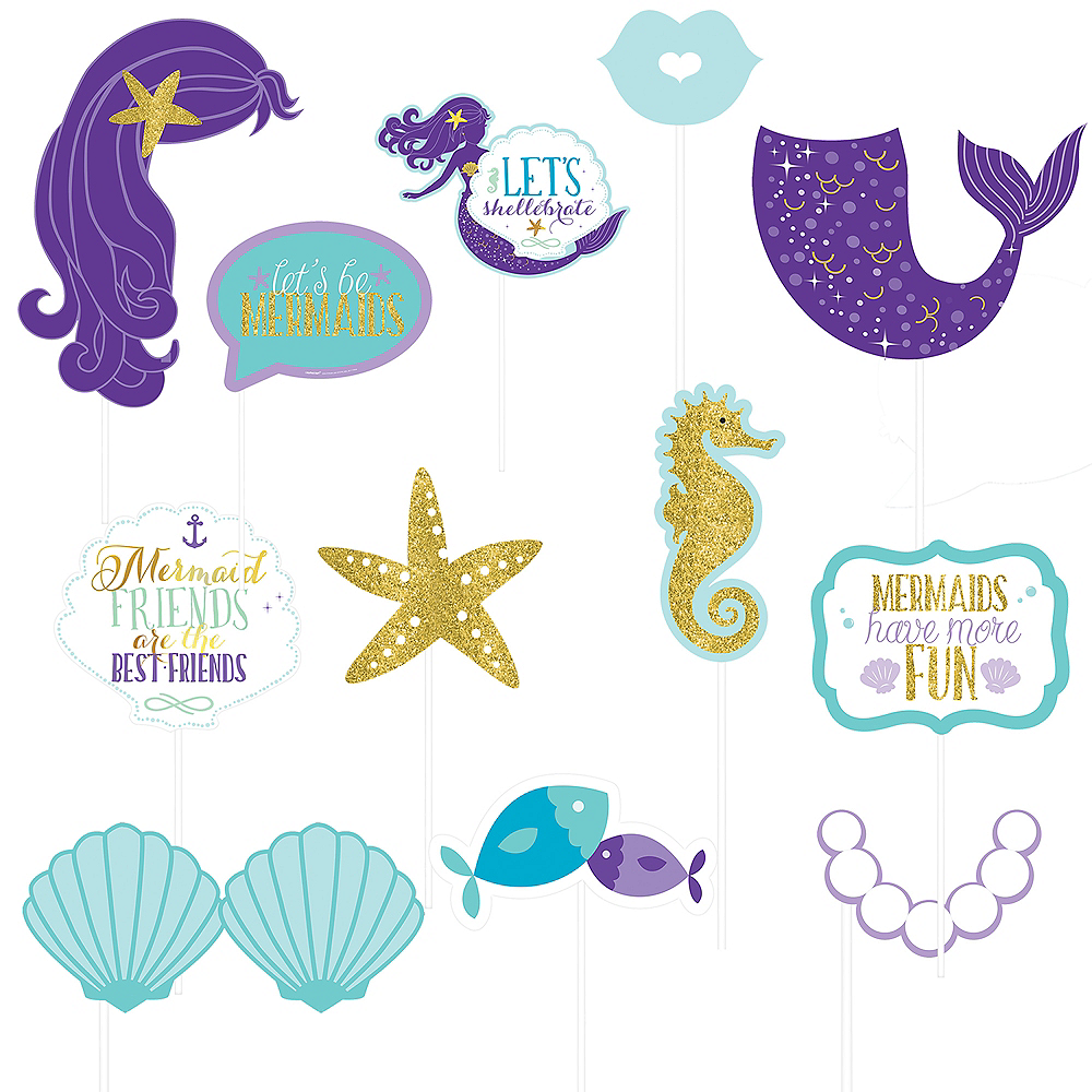 Wishful Mermaid Scene Setter with Photo Booth Props Image #2