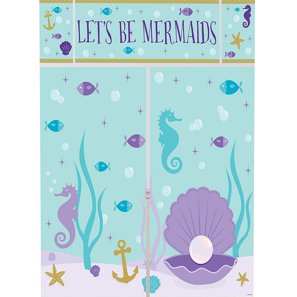 Wishful Mermaid Scene Setter with Photo Booth Props Image #3