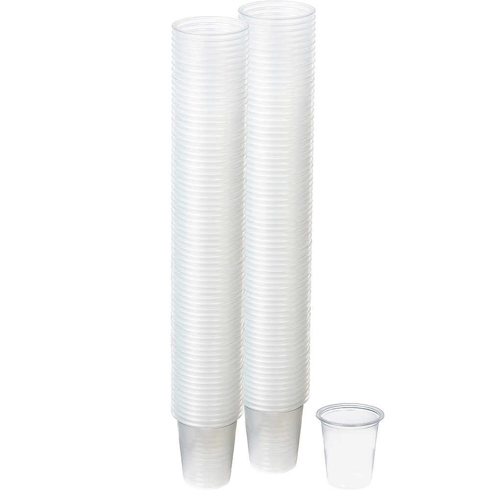 Big Party Pack Small CLEAR Plastic Portion Cups 200ct Image #1
