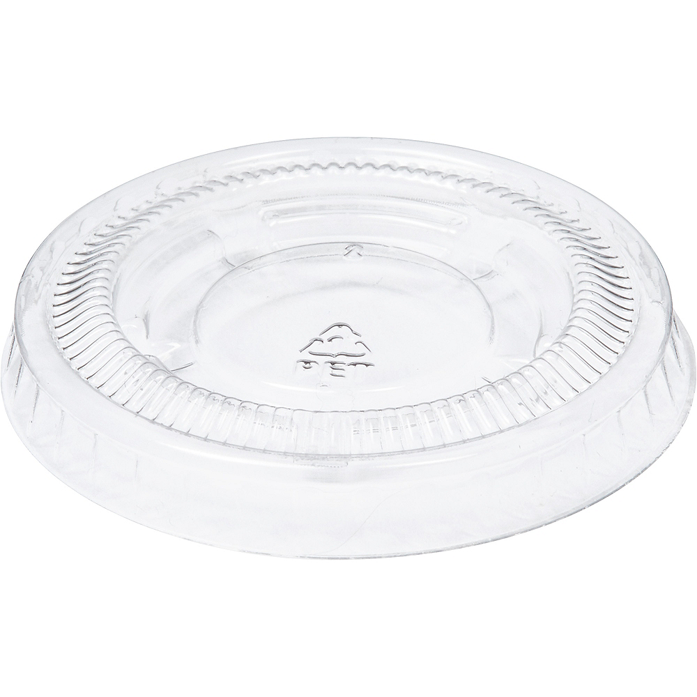 Nav Item for Big Party Pack Small CLEAR Plastic Portion Cup Lids 200ct Image #2