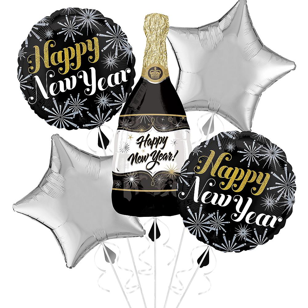 Giant Champagne Bottle & Stars Happy New Year Balloon Kit Image #1