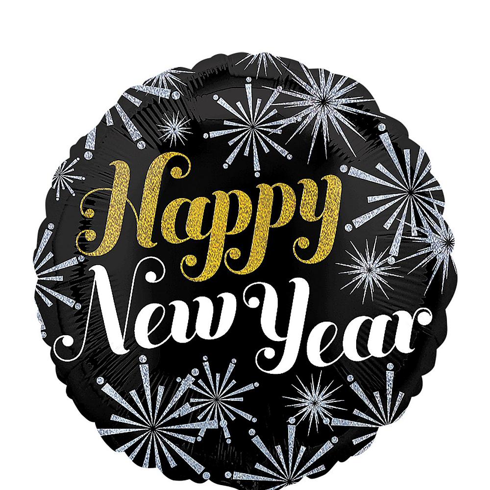 Giant Champagne Bottle & Stars Happy New Year Balloon Kit Image #3
