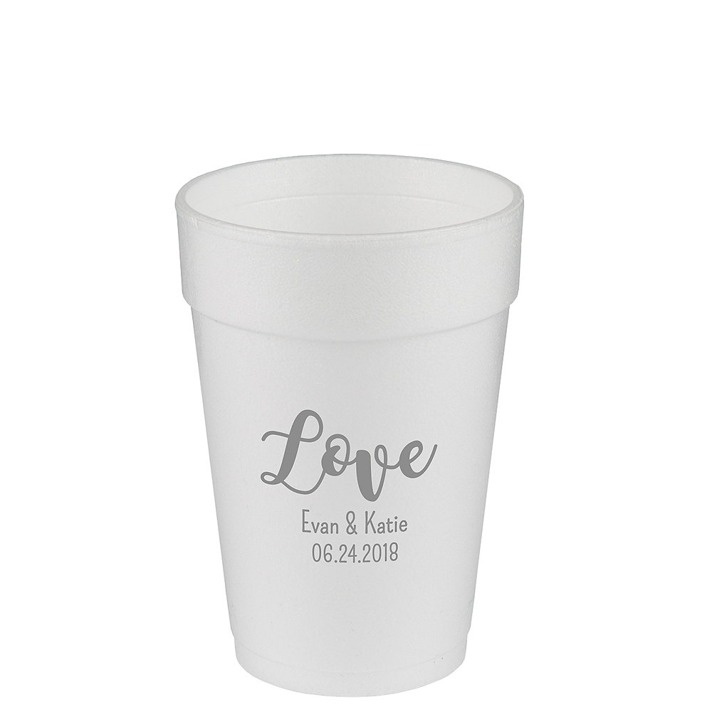 Personalized Valentine's Day Foam Cups 14oz Image #1