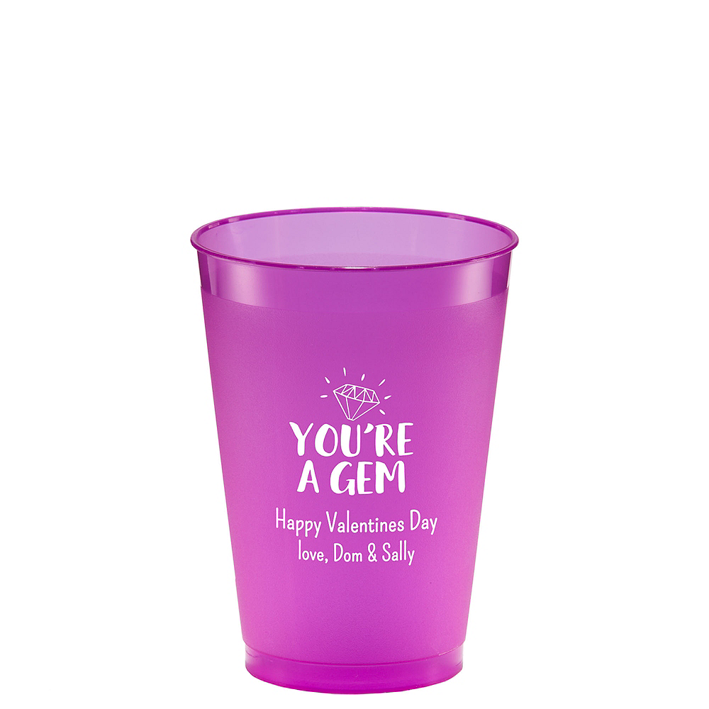 Personalized Valentine's Day Plastic Shatterproof Cups 12oz Image #1