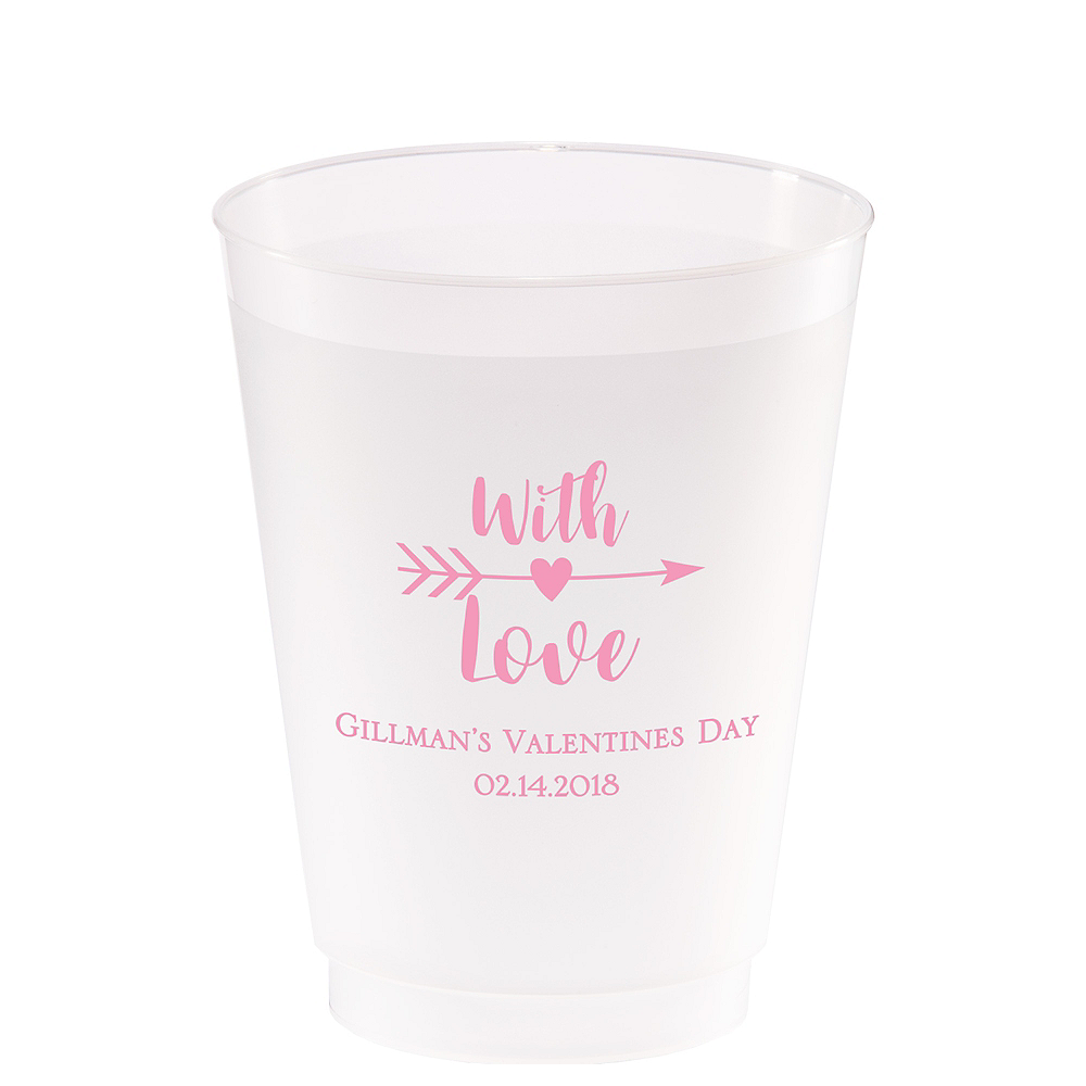 Nav Item for Personalized Valentine's Day Frosted Plastic Shatterproof Cups 20oz Image #1