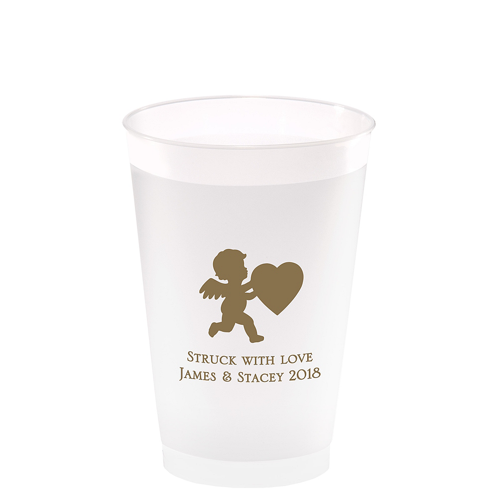 Nav Item for Personalized Valentine's Day Frosted Plastic Shatterproof Cups 14oz Image #1