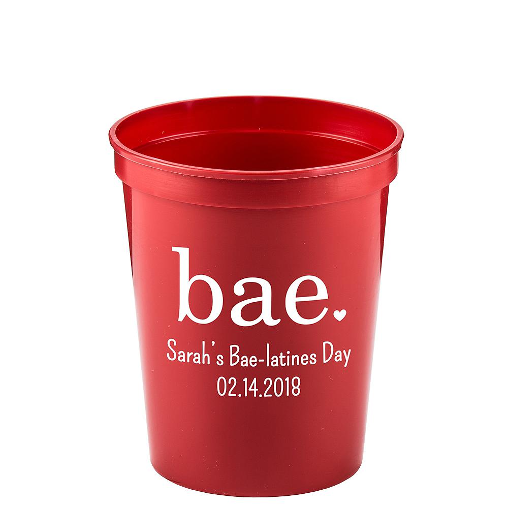 Personalized Valentine's Day Translucent Plastic Stadium Cups 16oz Image #1