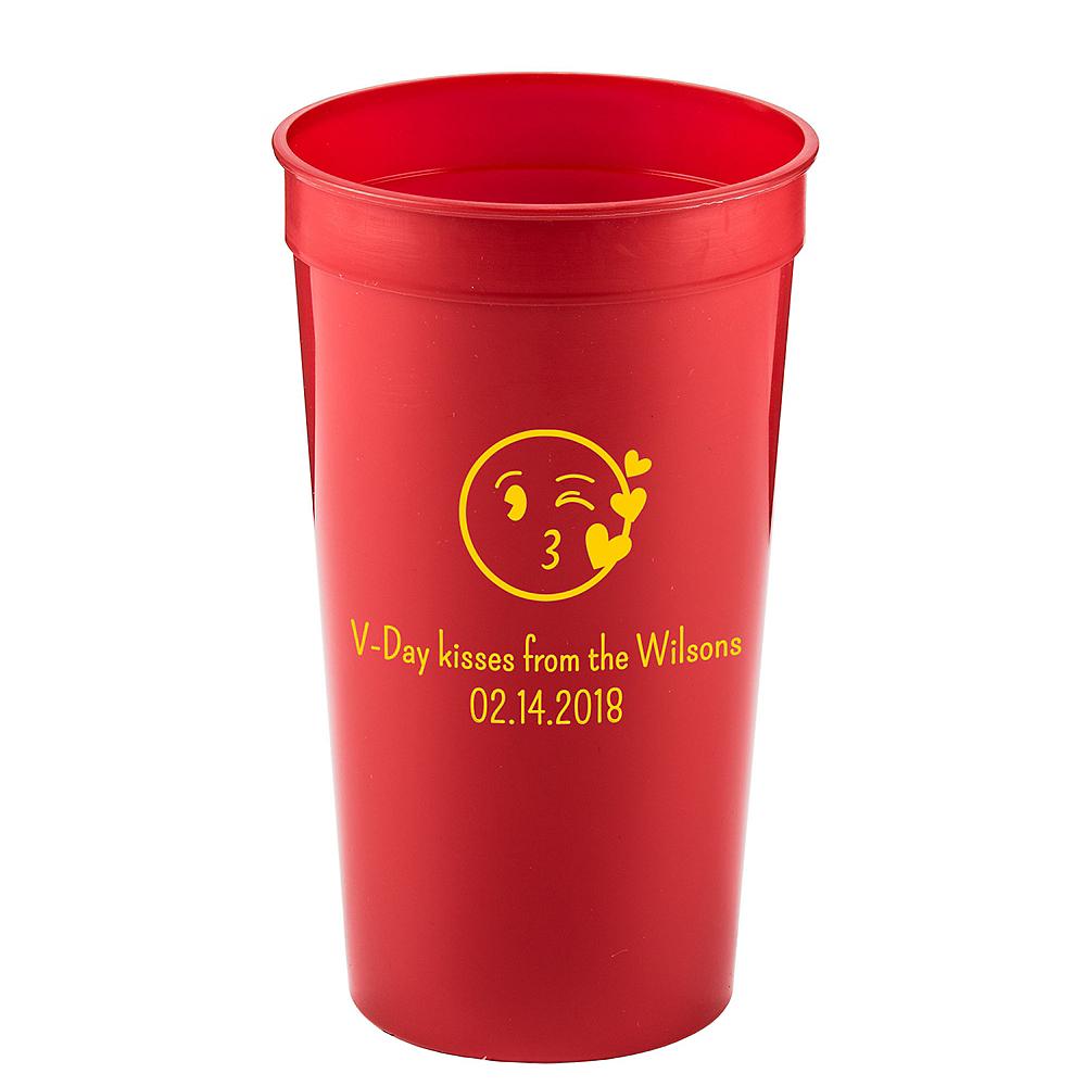 Personalized Valentine's Day Plastic Stadium Cups 32oz Image #1