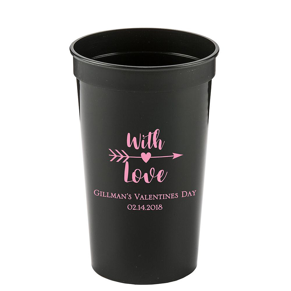 Personalized Valentine's Day Plastic Stadium Cups 22oz Image #1