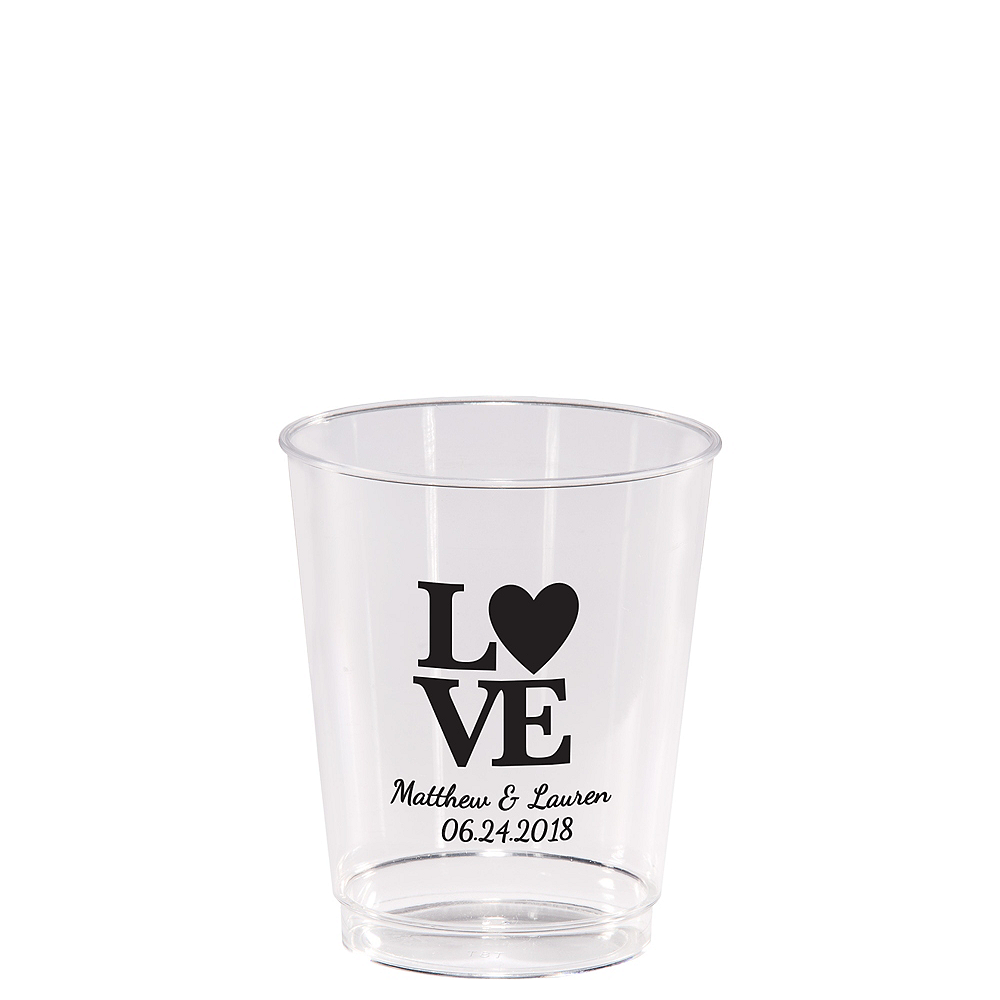 Personalized Valentine's Day Hard Plastic Cups 8oz Image #1