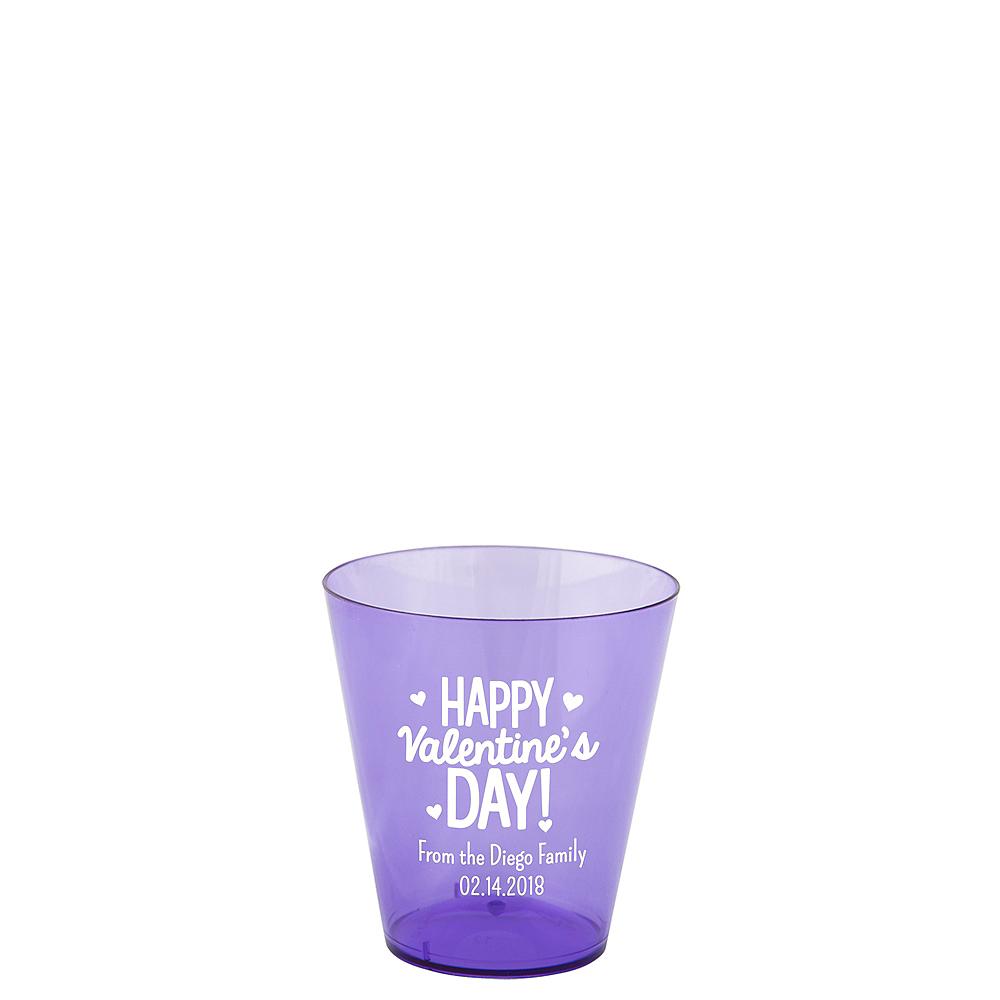 Personalized Valentine's Day Plastic Shot Glasses 2oz Image #1