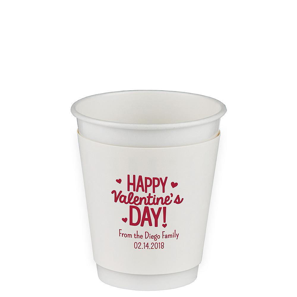 Personalized Valentine's Day Insulated Paper Cups 12oz Image #1