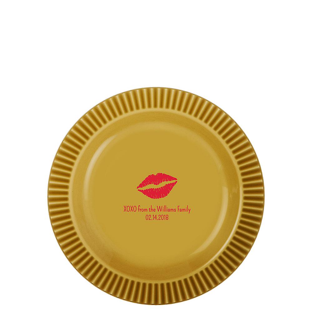 Personalized Valentine's Day Premium Plastic Dessert Plates Image #1