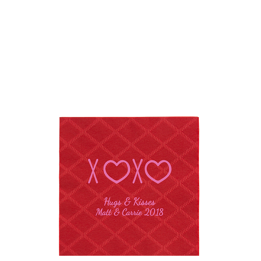 Personalized Valentine's Day Diamonds Beverage Napkins Image #1