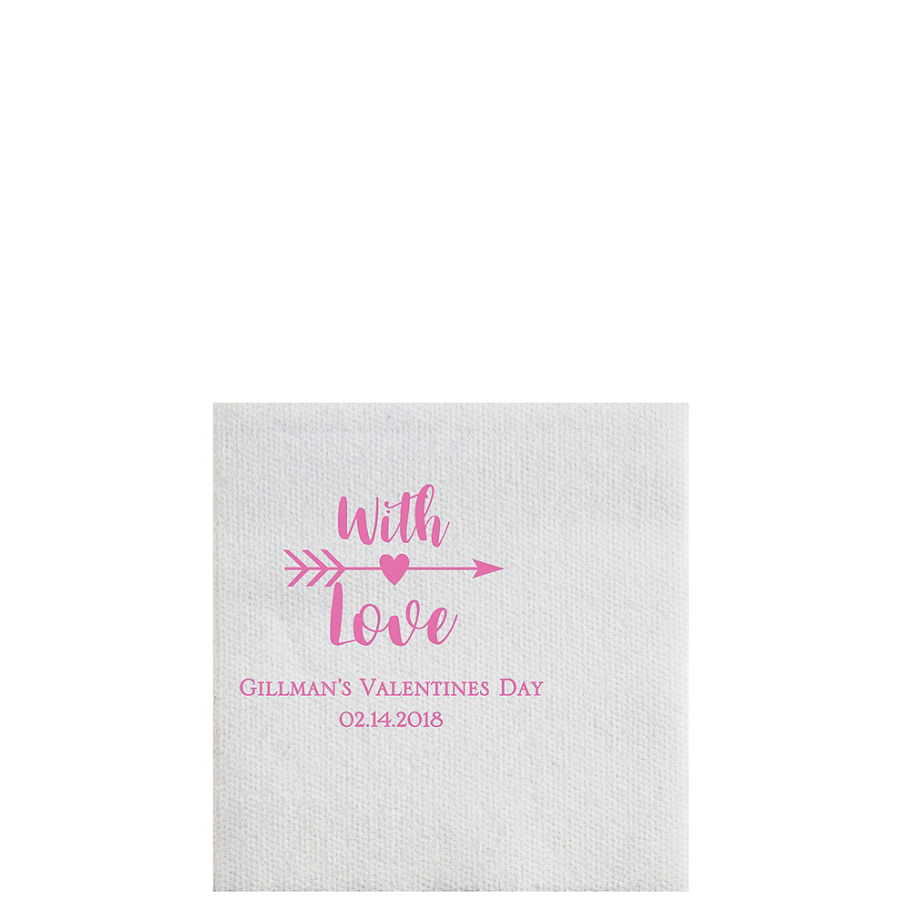 Personalized Valentine's Day Luxury Deville Beverage Napkins Image #1