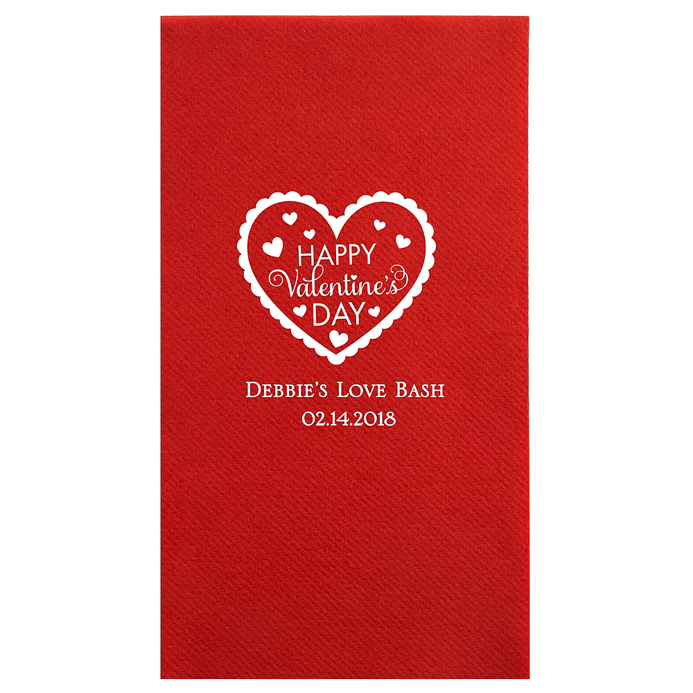 Personalized Valentine's Day Premium Guest Towels Image #1