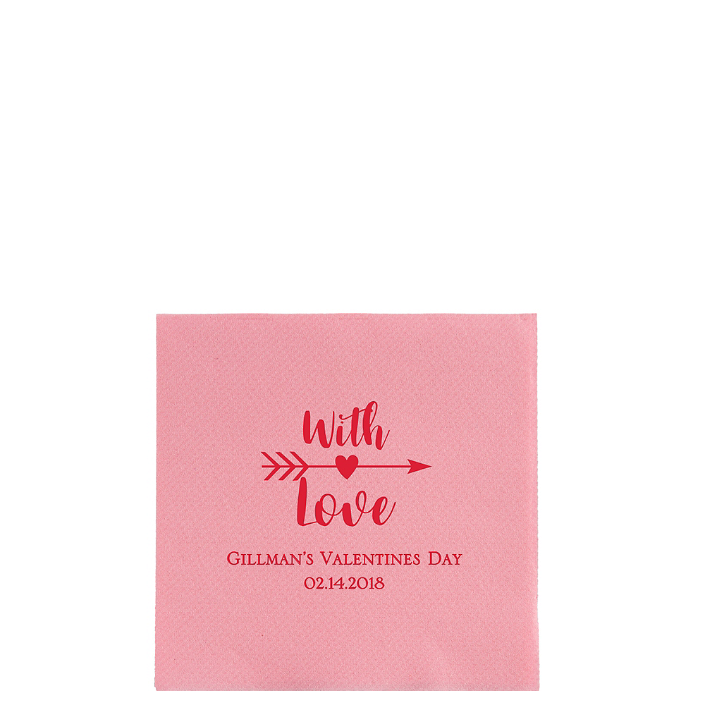 Personalized Valentine's Day Premium Beverage Napkins Image #1