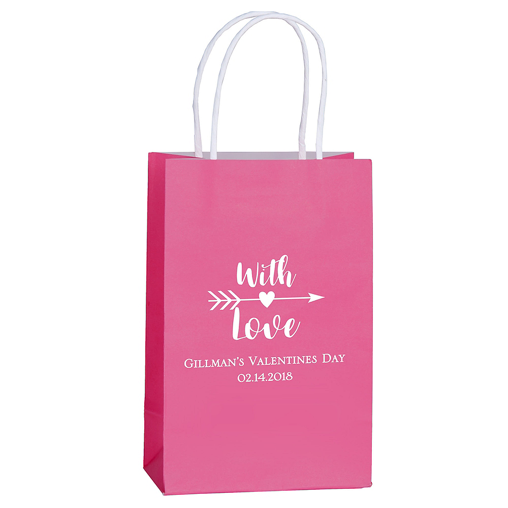 Personalized Medium Valentine's Day Kraft Bags Image #1