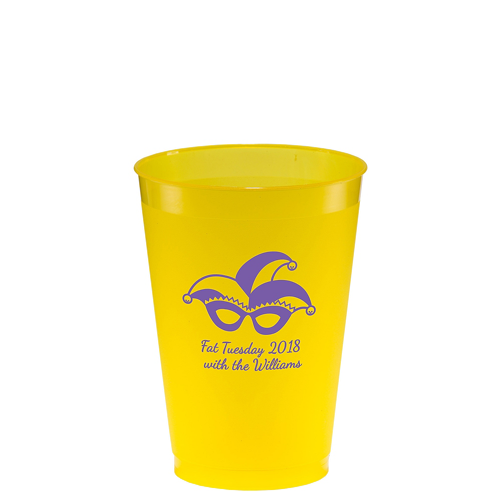 Personalized Mardi Gras Plastic Shatterproof Cups 12oz Image #1