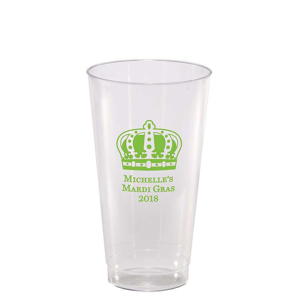 Nav Item for Personalized Mardi Gras Hard Plastic Cups 16oz Image #1