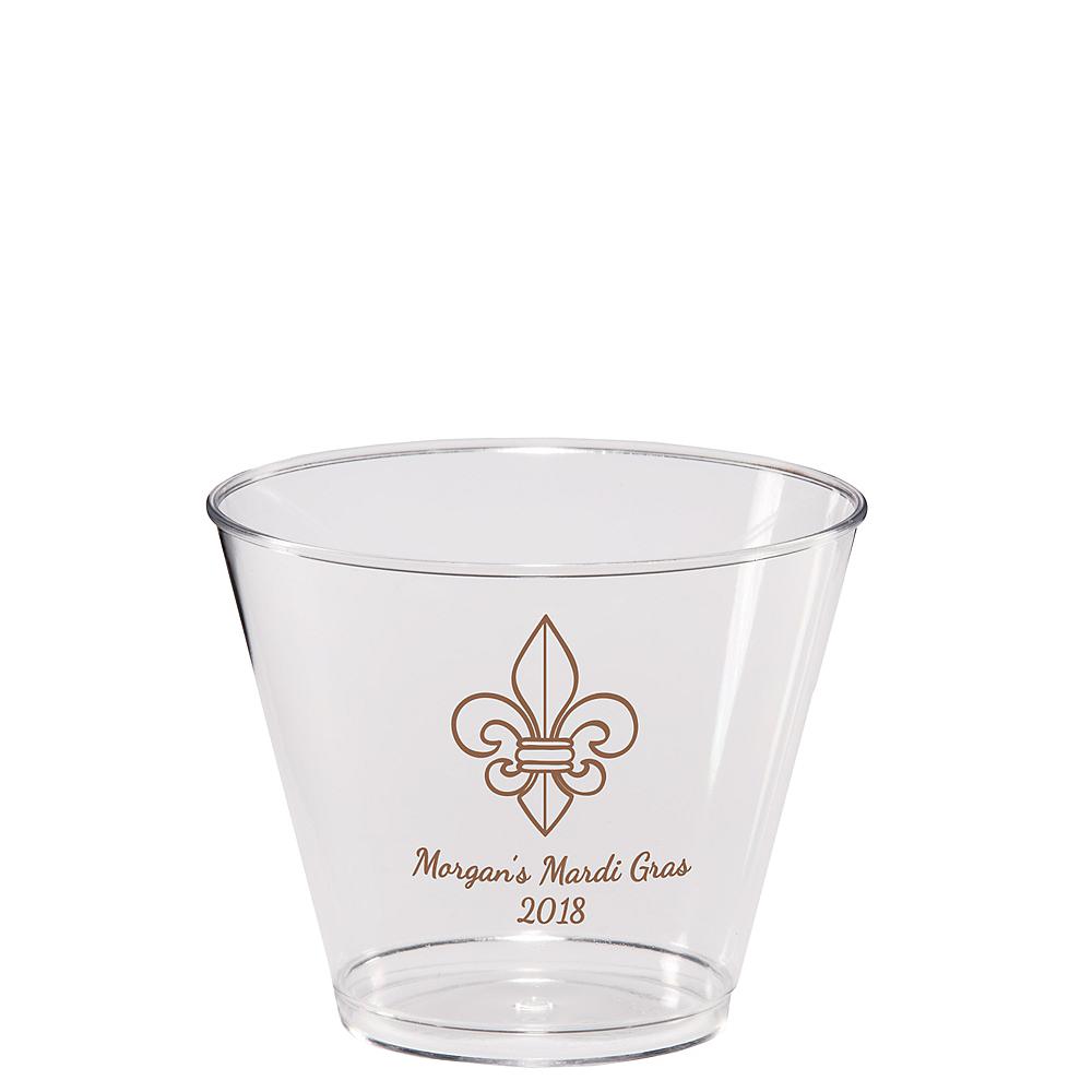 Personalized Mardi Gras Hard Plastic Cups 9oz Image #1
