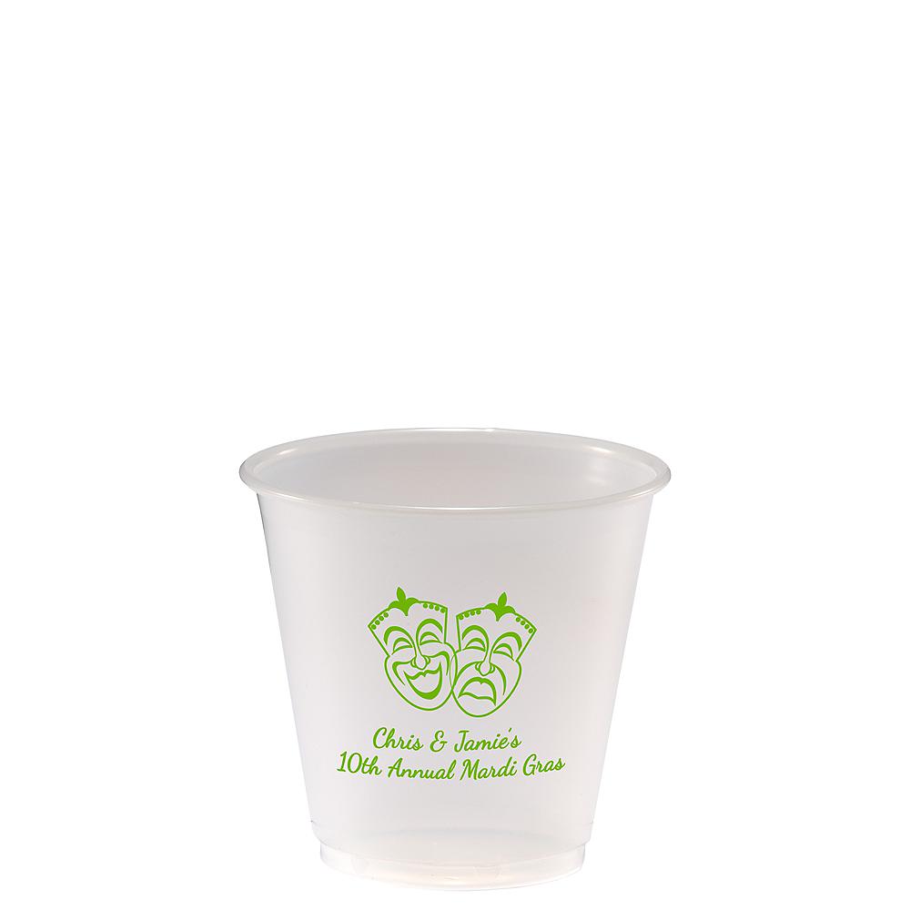 Personalized Mardi Gras Plastic Party Cups 3.5oz Image #1