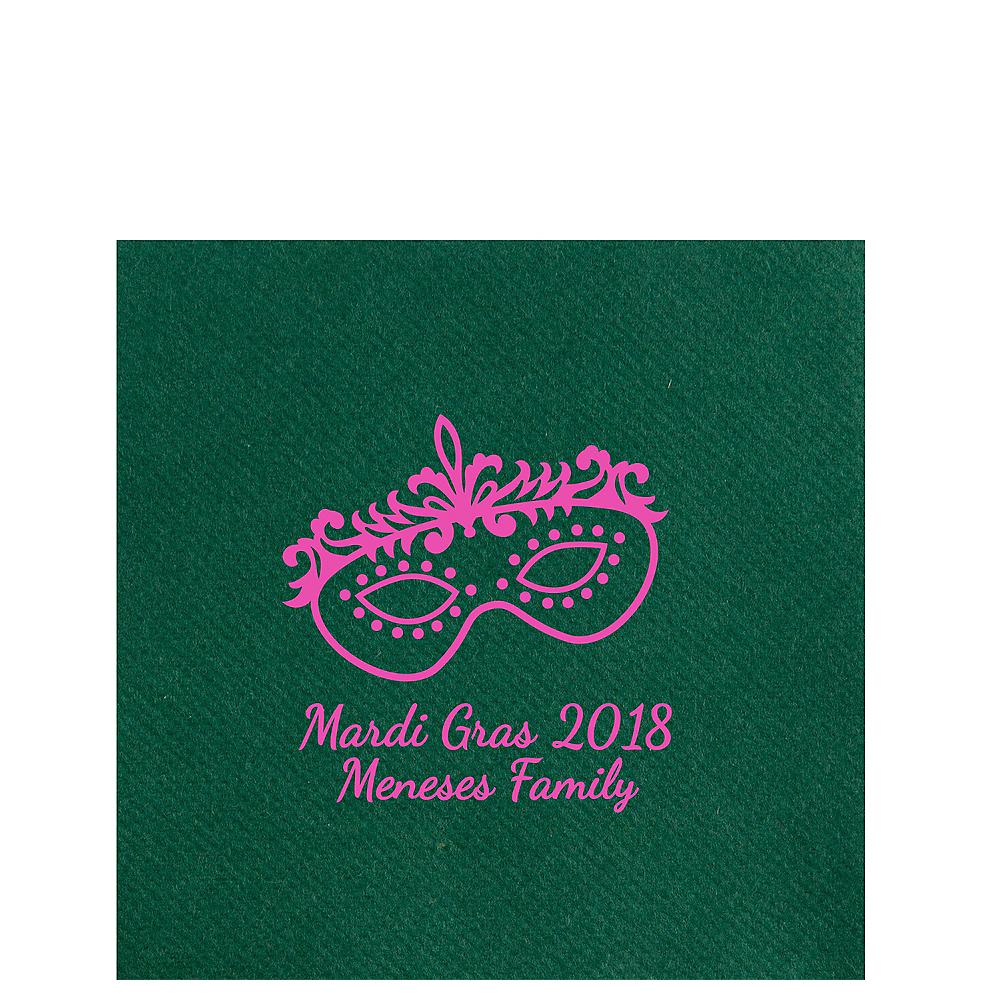 Personalized Mardi Gras Premium Lunch Napkins Image #1