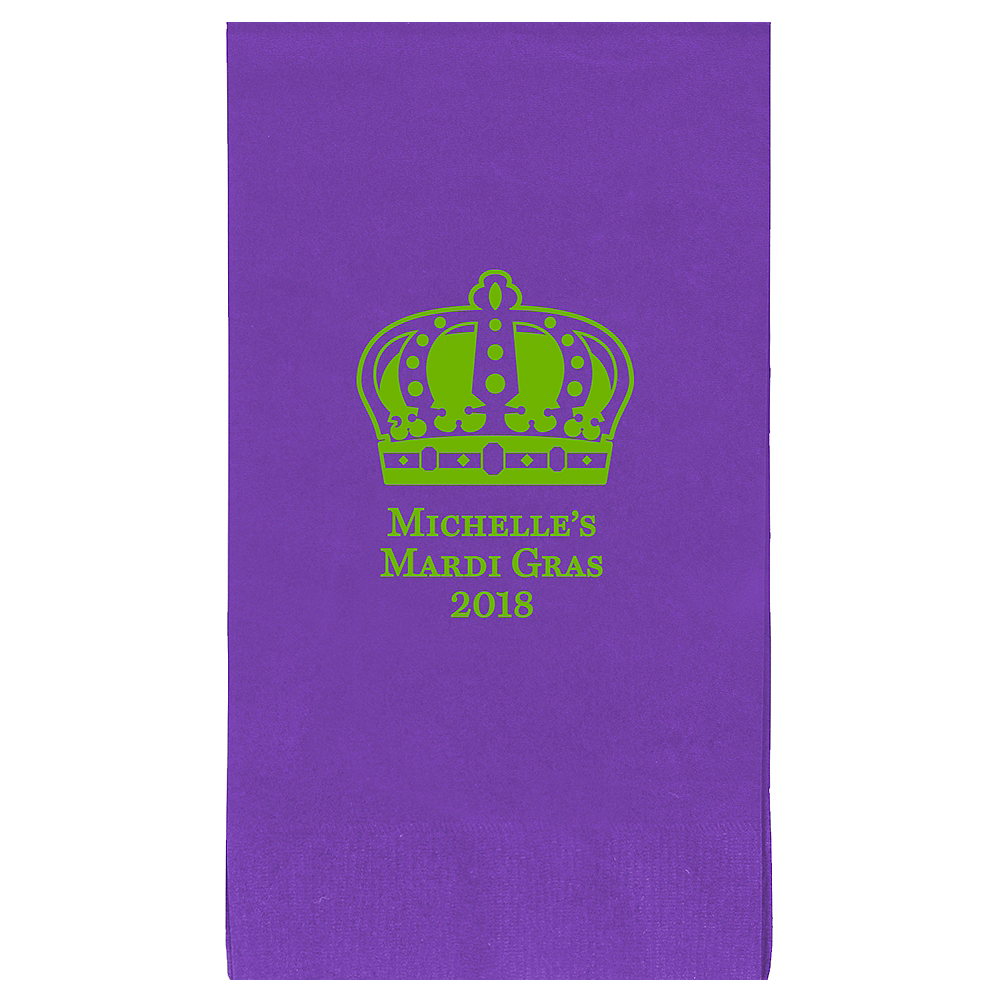 Nav Item for Personalized Mardi Gras Guest Towels Image #1
