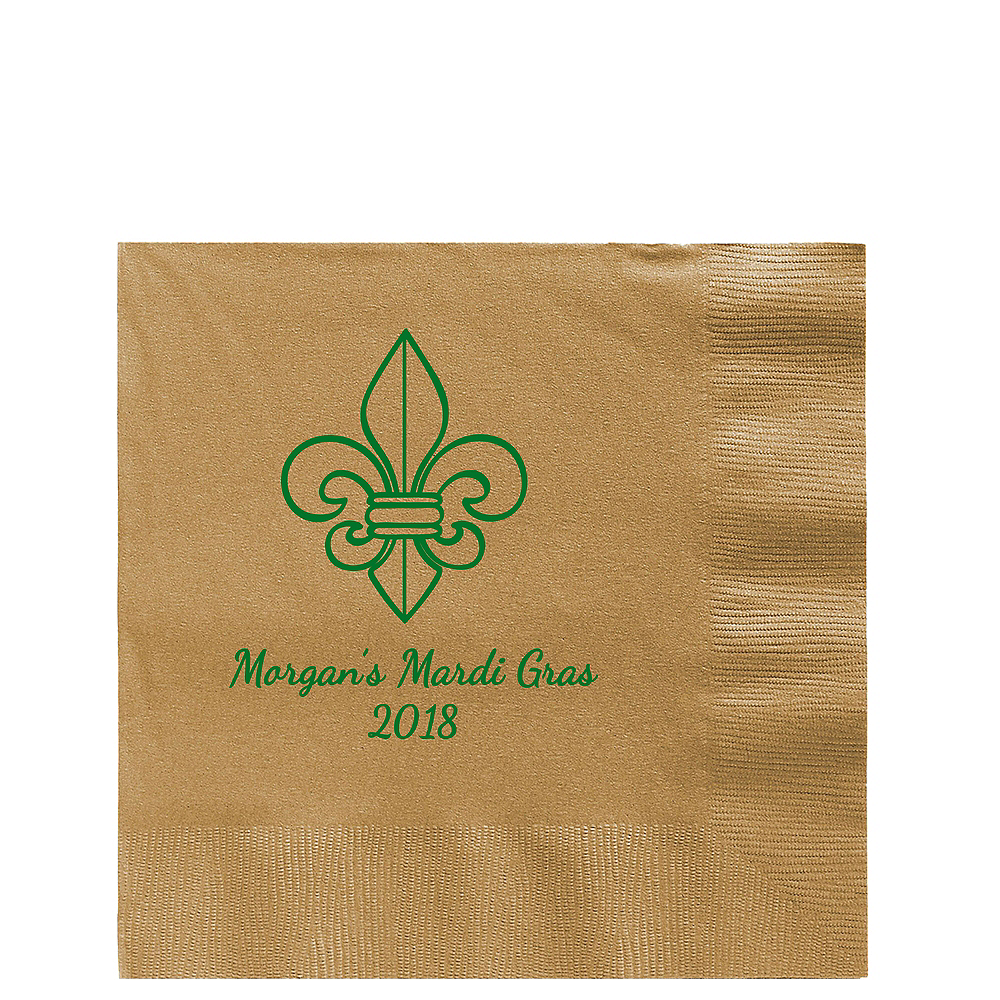 Personalized Mardi Gras Lunch Napkins Image #1