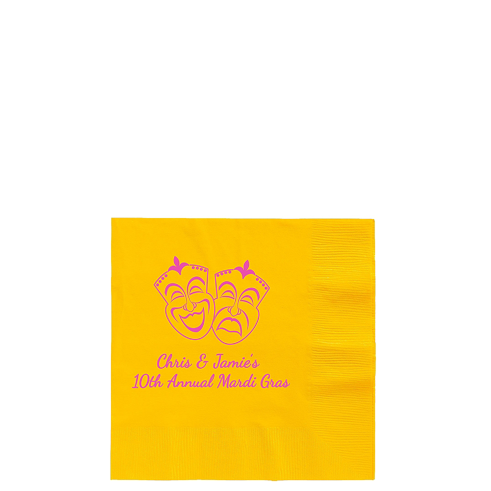 Nav Item for Personalized Mardi Gras Beverage Napkins Image #1