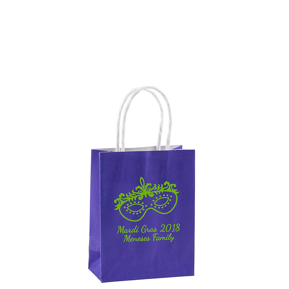Personalized Small Mardi Gras Kraft Bags Image #1