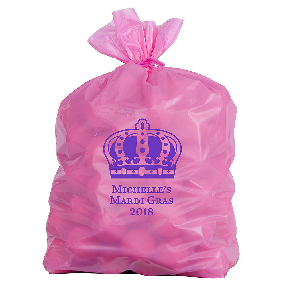 Personalized Medium Mardi Gras Plastic Treat Bags Image #1