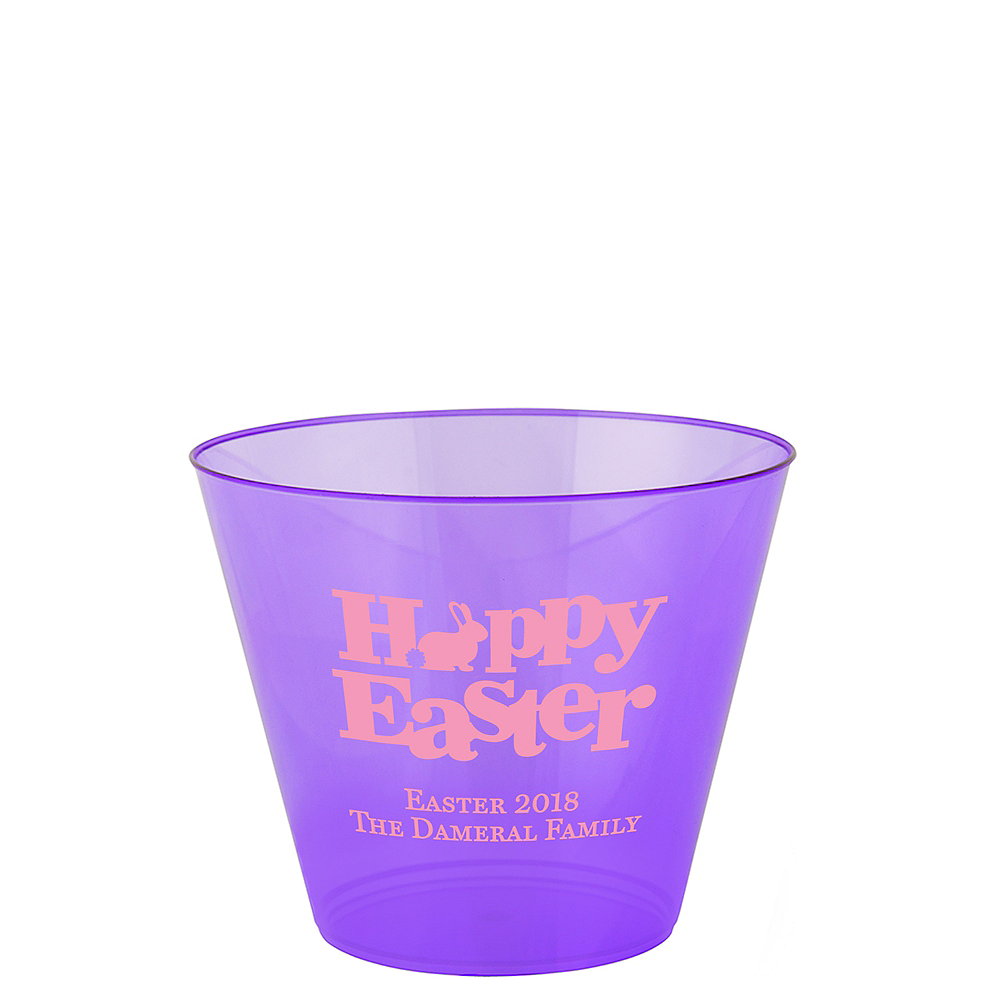 Personalized Easter Hard Plastic Cups 9oz Image #1