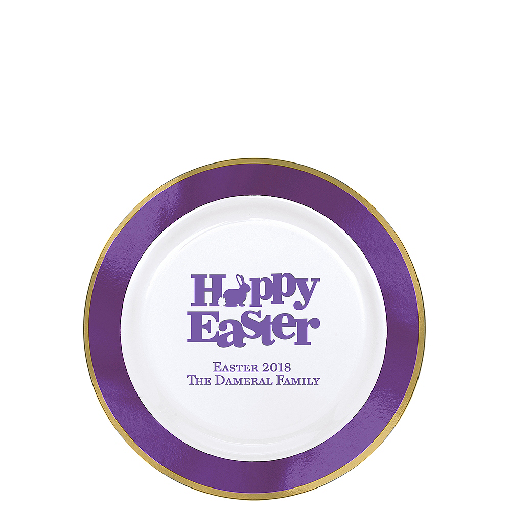 Nav Item for Personalized Easter Premium Round Trimmed Dessert Plates Image #1
