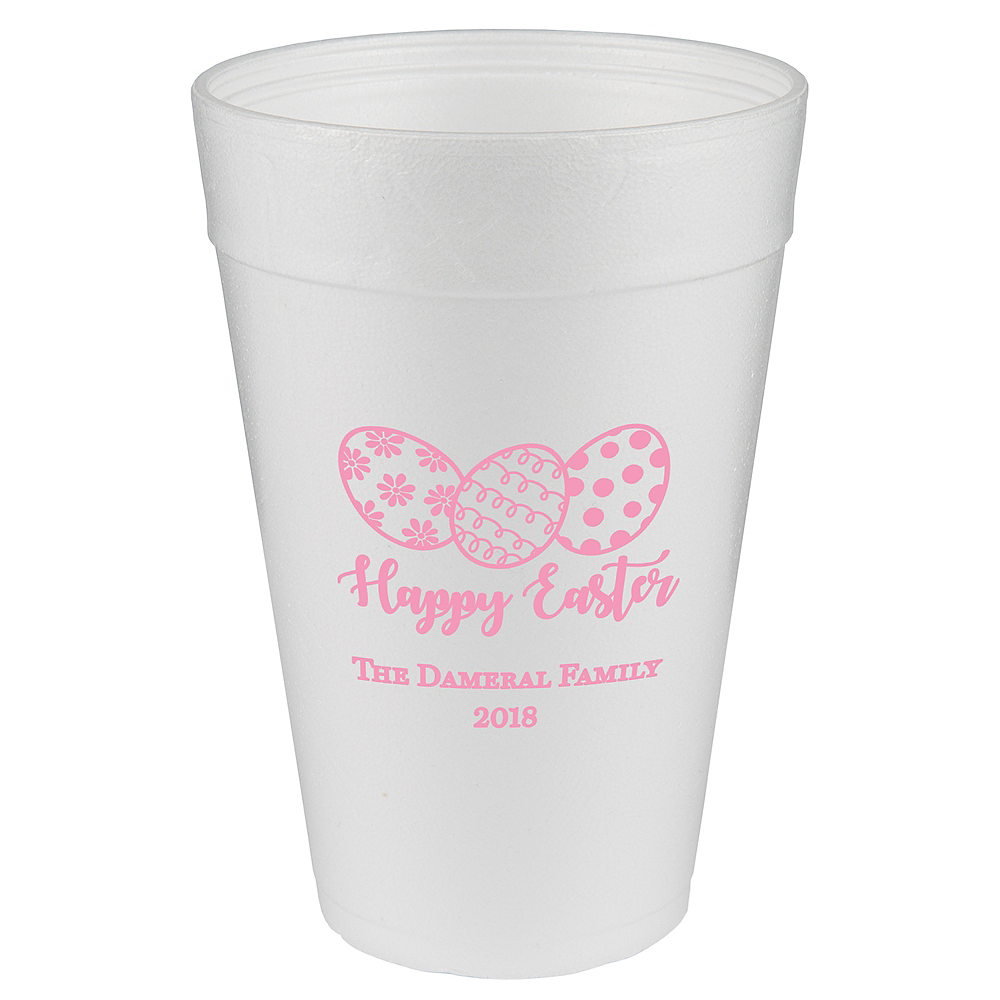 Personalized Easter Foam Cups 32oz Image #1